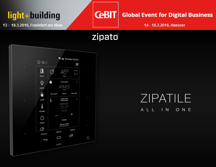 Zipato ZipaTile Lights + Buildings CEBIT